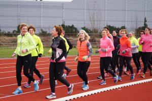 Trainen voor Ladiesrun 2017 bij CAV Energie
