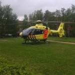 Traumahelikopter naar melding aan het Markermeer in Barendrecht