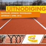 2 april: Officiële opening nieuwe banen van Tennisvereniging Barendrecht