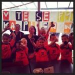 Taart en een beker voor de kampioenen van Vitesse F1 (KV Vitesse, Barendrecht)