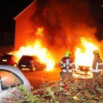 Afgelopen nacht drie auto's uitgebrand aan de Vecht