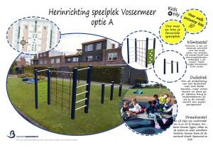 Nieuwe speeltoestellen Fugahof, Mandolinehof, Vossermeer, Schouw, Giessen en Torenvalk (Barendrecht)