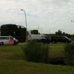 Geldtransport ramt busje op GROEN-Rotonde in Barendrecht