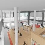 Nieuw ontwerp Het Kruispunt: Ruimere hal en patio op de eerste verdieping