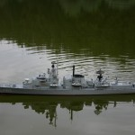 Bijzondere tentoonstelling van marine modelschepen bij de Historische Vereniging aan de Dorpsstraat in Barendrecht