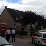 Brand op dak van woning aan de van Bronkhorstvliet in Barendrecht
