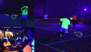 'Glow in the dark' tennis weekend bij Tennisvereniging Barendrecht