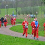 Santa Run: Start, hardlopen en prijsuitreiking, Winterfeest Barendrecht 2014