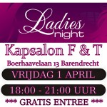1 april: Gratis Ladies Night bij Kapsalon F&T